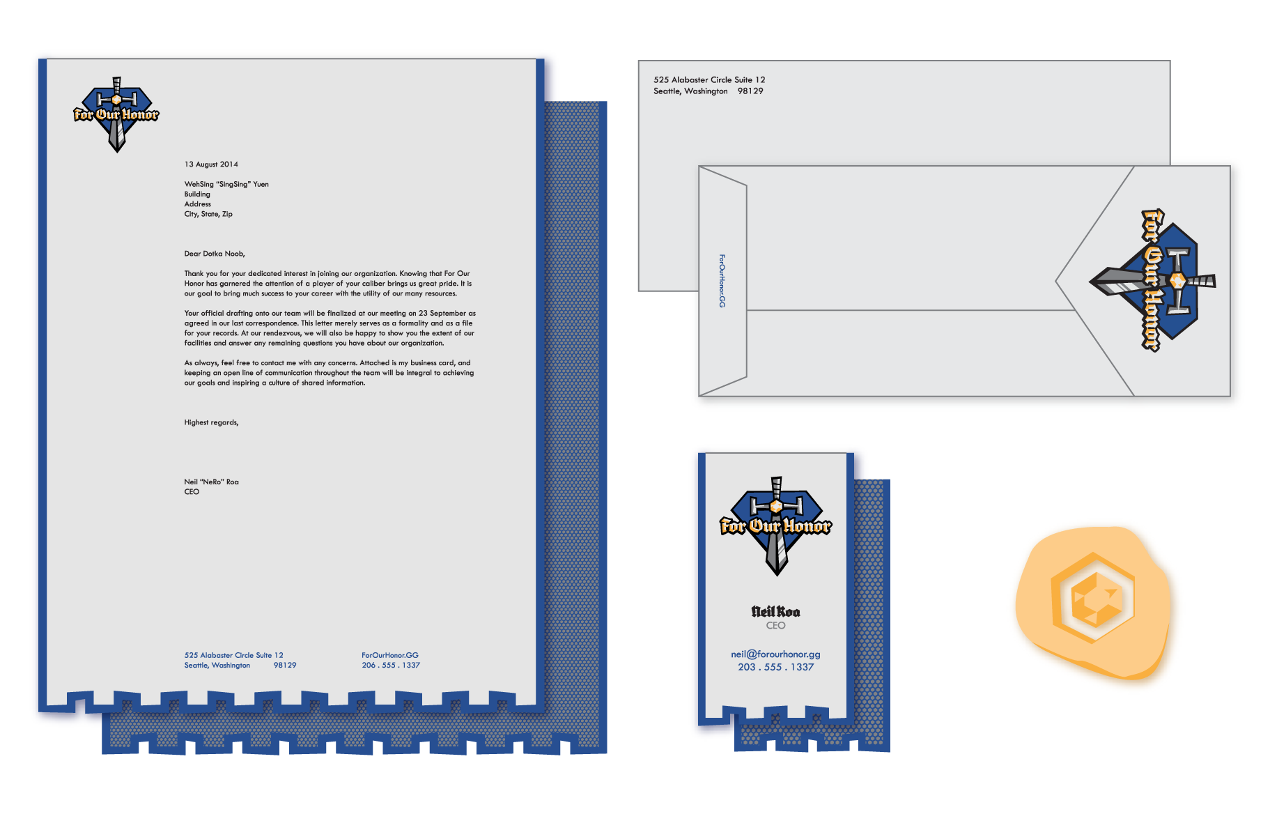 For Our Honor collateral